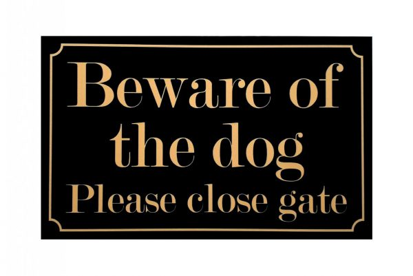 beware of the dog black